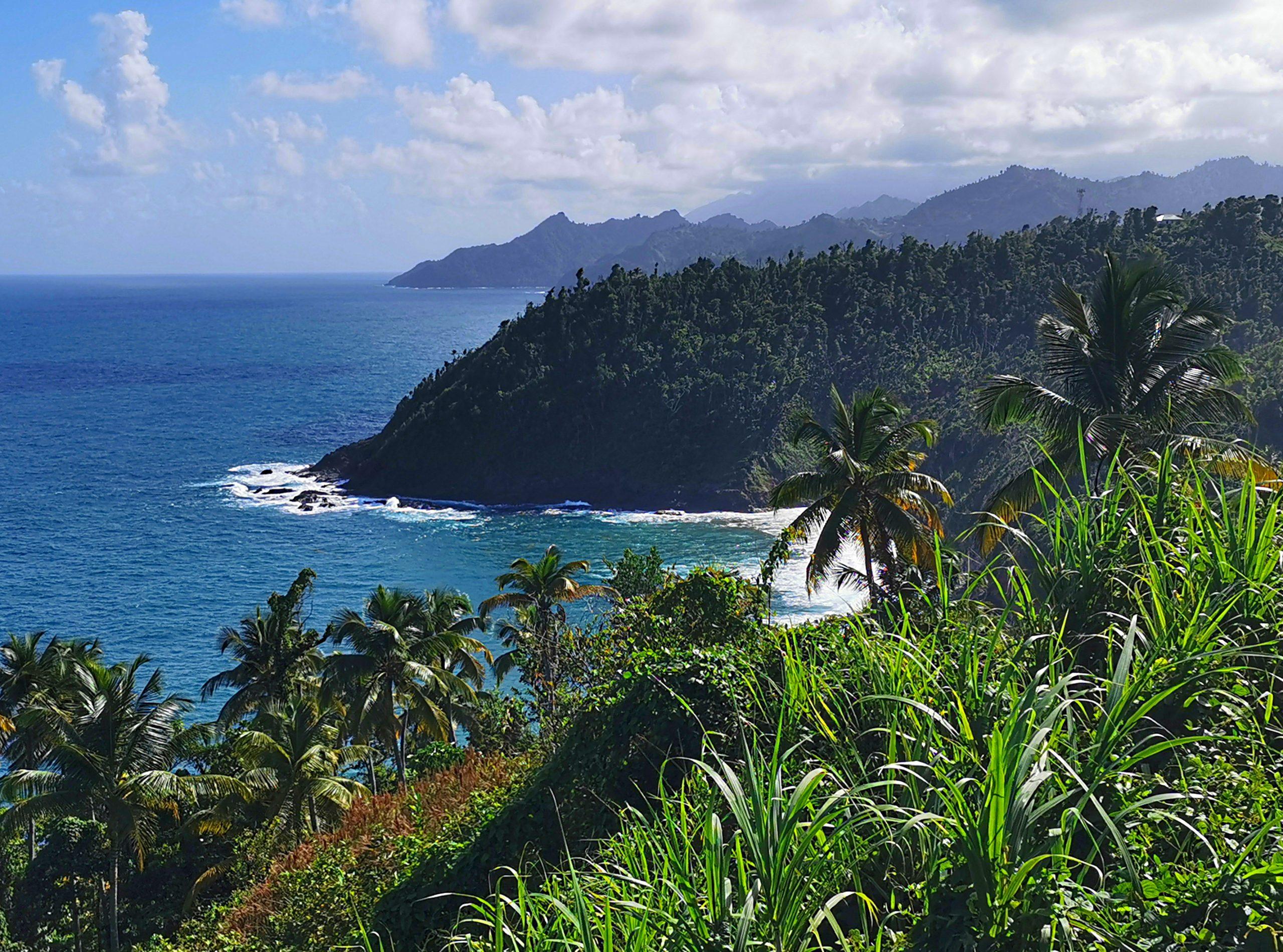 Piękne wybrzeże Dominiki